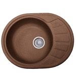 Кухонная мойка Formastone Fosto  КМ 58-45, овальная с крылом,ореховая карамель
