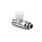 """Прямой клапан SR Rubinetterie Tondera термостатический 1/2""""х3/4"""" E, цвет матовый никель"""