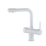 Смеситель для кухни Haiba HB70088-8 с подключением фильтра питьевой воды, белый