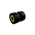 Резьбовое соединение Schlosser для стальных труб GW M22x1,5 x GW 1/2, Чёрное