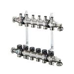 Распределительная гребенка Oventrop Multidis SF, 6 х G ¾ с вентильными вставками