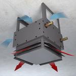 Тепловентилятор Varmann VHLF 400 RAL9007, с воздухораздающим модулем в виде четырехсторонних жалюзи
