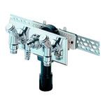 Встроенный сифон HL для стиральной или посудомоечной машины, с монтажной плитой и декоративной пластиной из нержавеющей стали, с двумя никелированными вентилями, хромированным угловым штуцером HL406.2