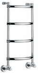 Полотенцесушитель Margaroli горячего водоснабжения Art.432/4 цвет polished black