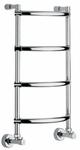 Полотенцесушитель Margaroli горячего водоснабжения Art.432/4 цвет satin(mat) chrome