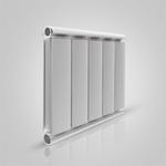 Алюминиевый радиатор Silver 350, белый, 1 секция