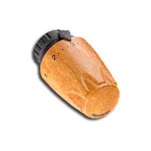 Heimeier Термостатическая головка DX, 6-28°C, настройки 1-5, глянцевый, грецкий орех, 6700-15.900