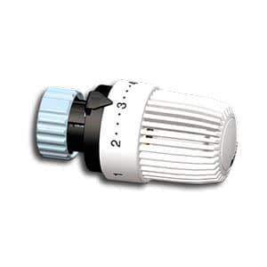 Heimeier Термостатическая головка S для клапанов типа Danfoss RA , диапазон 6-28 °C, настройки 1-5, белый, 9726-24.500