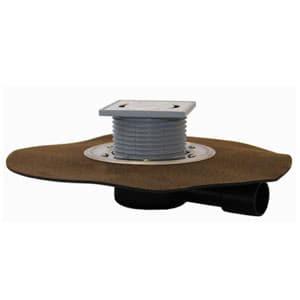 """Трап HL для внутренних помещений с решеткой в подрамнике, с """"сухим"""" сифоном """"Primus"""", с полимербитумным гидроизоляционным полотном HL90HPr"""