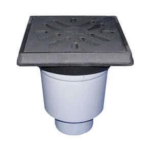 Трап HL для гаража, двора с чугунным подрамником с незамерзающим запахозапирающим устройством, грязеуловителем HL615