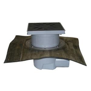 Трап HL для гаража, двора с решеткой из полипропилена с гидроизоляционным полимербитумным полотном HL615HL