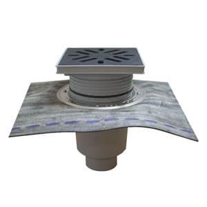 Трап HL для гаража, двора с решеткой в подрамнике , с гидроизоляционным полимербитумным полотном HL616H