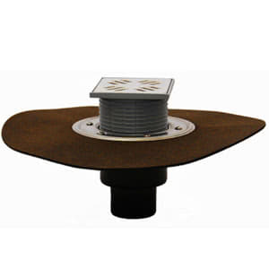Трапы HL для балконов и террас с решеткой в подрамнике с гидроизоляционным полимербитумным полотном HL310NH.2