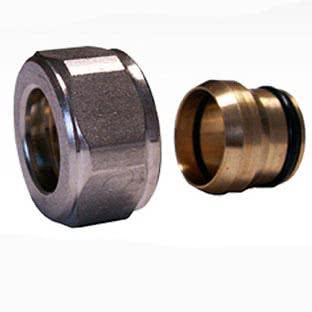 Резьбовое соединение SCHLOSSER для медных труб никелированное GW 22x1.5 x 15MM, арт. 602500002