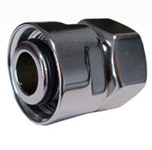 Резьбовое соединение SCHLOSSER для стальных труб хром GW M22x1,5 x GW 1/2, арт. 602700003