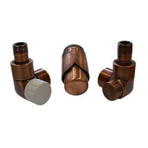 Комплект термостатический SCHLOSSER LUX 6037, осевой правый античная медь, для пластиковой трубы GZ 1/2 х 16х2, арт. 603700050