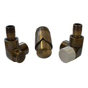 Комплект термостатический SCHLOSSER LUX 6037, осевой левый античная латунь, для стальной трубы GZ 1/2 х GW 1/2, арт. 603700084