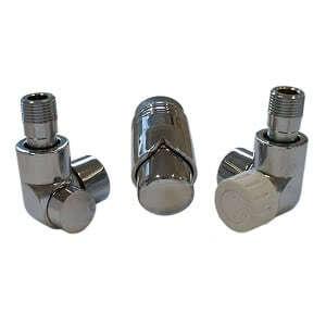 Комплект термостатический SCHLOSSER LUX 6037, осевой левый хром, для стальной трубы GZ 1/2 х GW 1/2, арт. 603700066