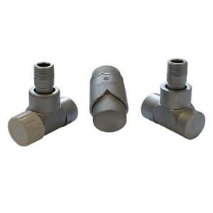 Комплект термостатический SCHLOSSER LUX 6037, осевой левый сатин, для пластиковой трубы GZ 1/2 х 16х2, арт. 603700039