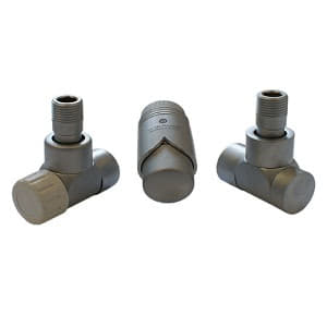 Комплект термостатический SCHLOSSER LUX 6037, осевой левый сатин, для стальной трубы GZ 1/2 х GW 1/2, арт. 603700069