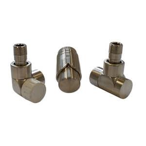 Комплект термостатический SCHLOSSER LUX 6037, осевой правый сталь, для медной трубы GZ 1/2 х 15х1, арт. 603700011