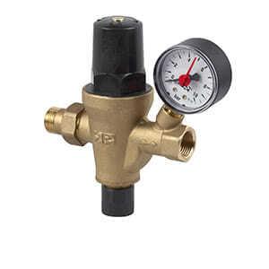 """Клапан автозаполнения SR Rubinetterie для системы отопления с фильтром и манометром  1/2"""", арт. M105 1500G000"""
