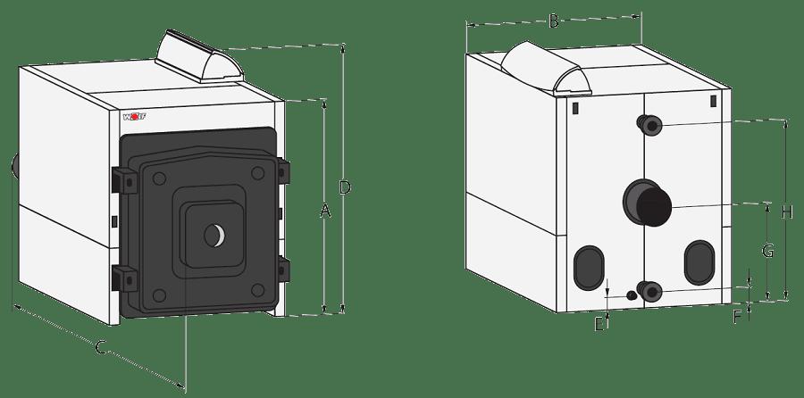 Напольный чугунный котел Wolf MK-2-320, без горелки, по-секционно