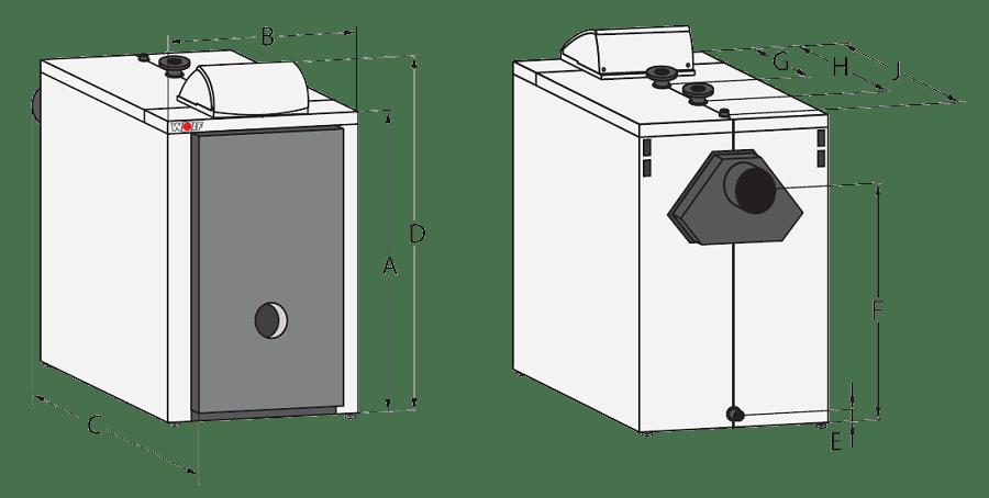 Напольный стальной котел Wolf MKS-100, без горелки