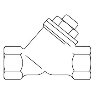 Обратный клапан Oventrop с косой врезкой PN16 Ду 25, бронза, Арт. 1072008
