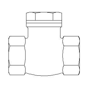 Обратный клапан Oventrop с прямой врезкой PN16 Ду 25, Арт. 1075008