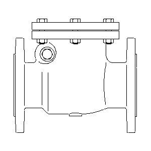 Обратный клапан Oventrop PN16 Ду 150 фланцевый, Арт. 1073055