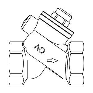 Обратный клапан Oventrop Ду 25, с уплотнением из EPDM, PN16, бронзовый, Арт. 1072108