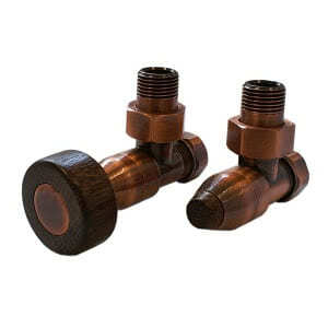 Комплект SCHLOSSER PRESTIGE, угловой античная медь, для пластиковых труб GW M22х1,5 х 16х2 (цилиндрическая тонкая рукоятка), арт. 604500041