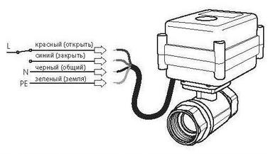 Схема подключения Neptun AquaControl 220В ½