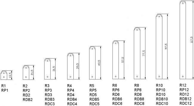 Типоразмеры радиаторов REGULUS® - system REGULLUS: