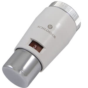 Головка термостатическая SCHLOSSER MINI M30x1,5 Белый-Хром, арт. 601100030