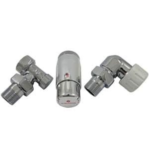 Комплект осевой SCHLOSSER правый,Хром,DN15 GZ1/2 x GW1/2 с головкой Мини M30x1,5, 602200068