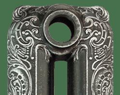Патинирование серебром на черной основе RAL9005/PSR
