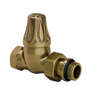 "Прямой клапан SR Rubinetterie для радиатора серия Old Style 1/2"", цвет: бронза, арт.  0342-1500Z000"
