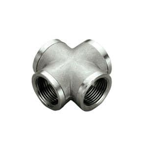 TIEMME Крестовина ВВ 1/2 никелированная для стальных труб резьбовая 1500290