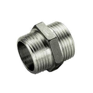 Ниппель TIEMME HH никелированный 1х1/2 для стальных труб резьбовой 1500205