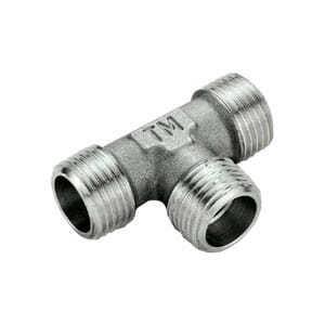 Тройник TIEMME НН никелированный 1/2 для стальных труб резьбовой 1500334