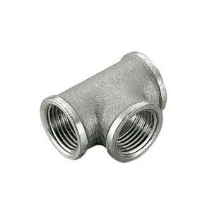 Тройник TIEMME ВВ 3/4x1/2x3/4 никелированный для стальных труб резьбовой 1500151