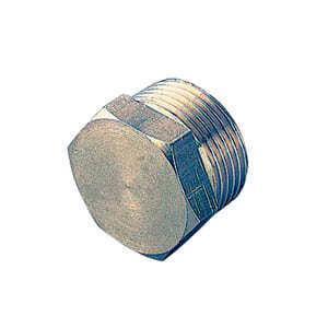 Заглушка TIEMME НР 1 никелированная для стальных труб резьбовая 1500266
