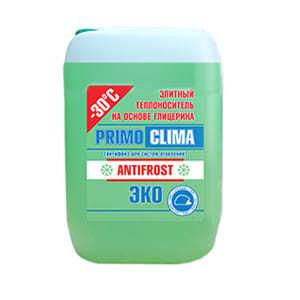 Элитный теплоноситель (антифриз) PRIMOCLIMA ANTIFROST на основе глицерина, масса брутто - 20 кг, для систем отопления