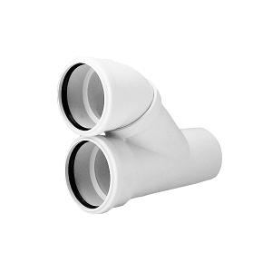 Отвод параллельный REHAU RAUPIANO PLUS, для канализационных труб 110/110, арт. 120564-002 (11205641002)