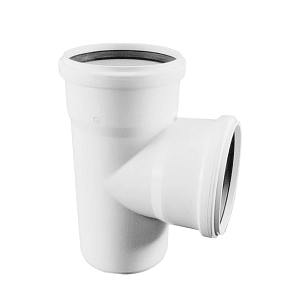 Тройник REHAU RAUPIANO PLUS 110/50/87°, для канализационных труб, арт. 121324-001