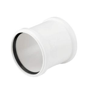 Муфта двухраструбная REHAU RAUPIANO PLUS 50, для канализационных труб, арт. 121484-001
