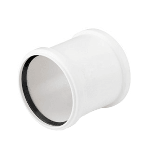 Муфта двухраструбная REHAU RAUPIANO PLUS 110, для канализационных труб, арт. 11214941001