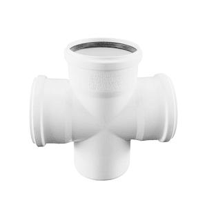 Крестовина REHAU RAUPIANO PLUS 110/110/110/87°, для канализационных труб, арт. 121554-001